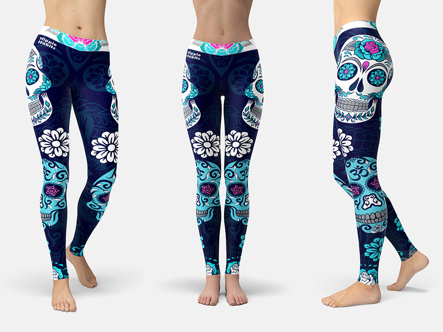 Hippie Habits –  Candy Skull –  joga, yoga – fitness – sportswear