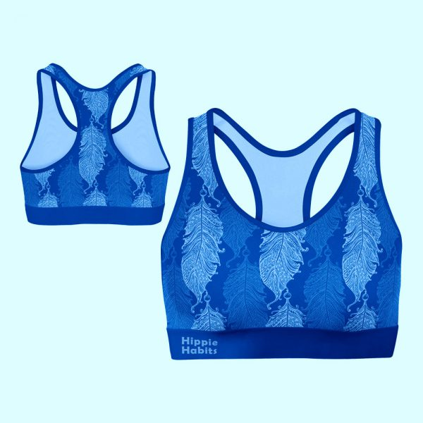 Hippie Habits –  Blue Wings –  Top sportowy, stanik sportowy – joga, yoga – fitness – sportswear
