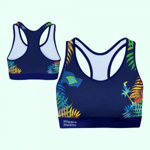 Hippie Habits - Hippie Carnival - Top sportowy, stanik sportowy - joga, yoga - fitness - sportswear