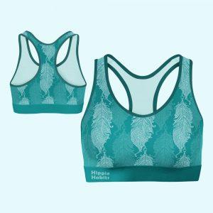 Hippie Habits - Minty Wings - Top sportowy, stanik sportowy - joga, yoga - fitness - sportswear