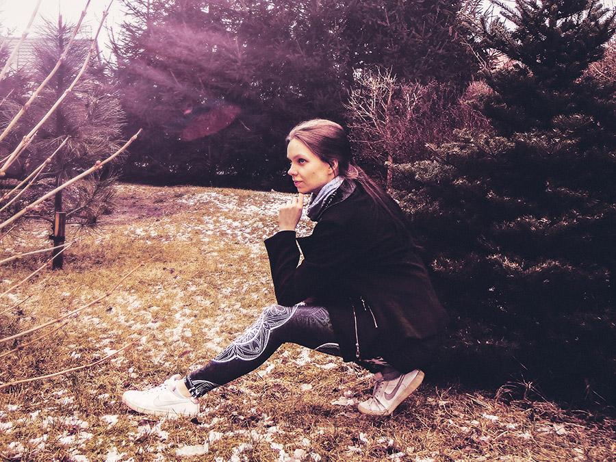 Legginsy Hippie Habits – Silver Mandala – joga, yoga – fitness – sportswear