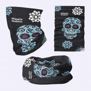 Hippie Habits - candy skull - chusta wielofunkcyjna - komin - joga, yoga - fitness - sportswear