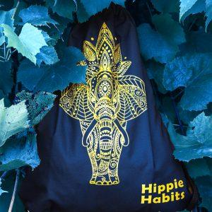 Hippie Habits - Gold Mandala - plecak, worek - joga, yoga - fitness - sportswear