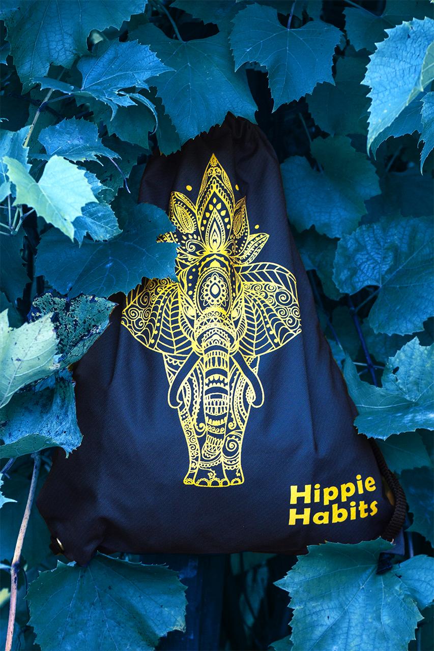 Hippie Habits – Gold Mandala – plecak, worek –  joga, yoga – fitness – sportswear