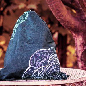 Hippie Habits - Silver Mandala - plecak, worek - joga, yoga - fitness - sportswear