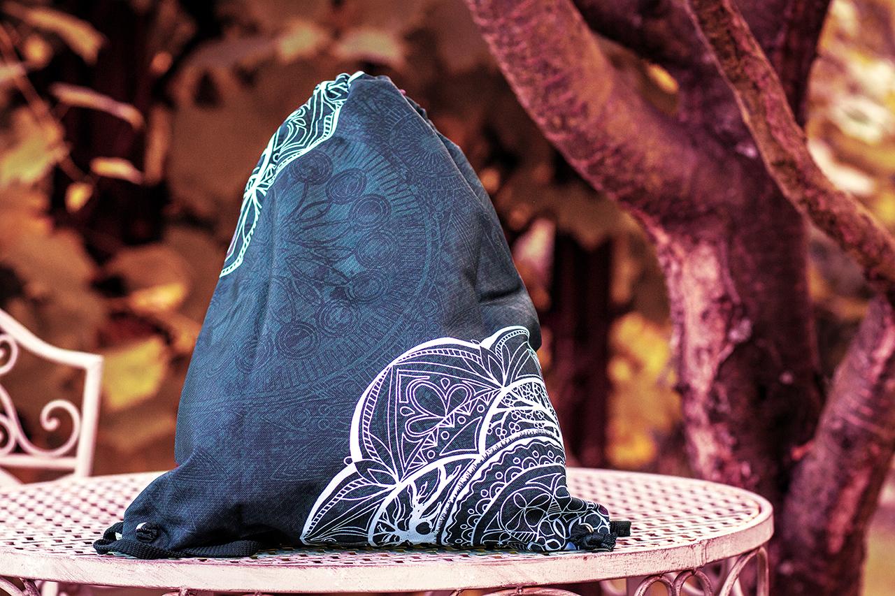 Hippie Habits – Silver Mandala – plecak, worek –  joga, yoga – fitness – sportswear