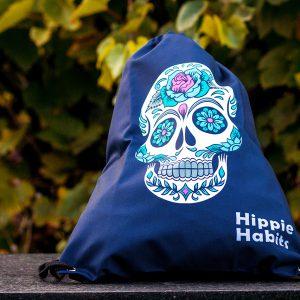 Hippie Habits - Candy Skull - plecak, worek - joga, yoga - fitness - sportswear