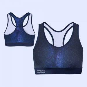 Crop-top - stanik sportowy- Hippie Habits - Mint Wings - joga, yoga - fitness - sportswear