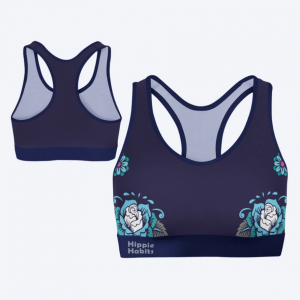 Crop-top - stanik sportowy- Hippie Habits - Candy Skull - joga, yoga - fitness - sportswear