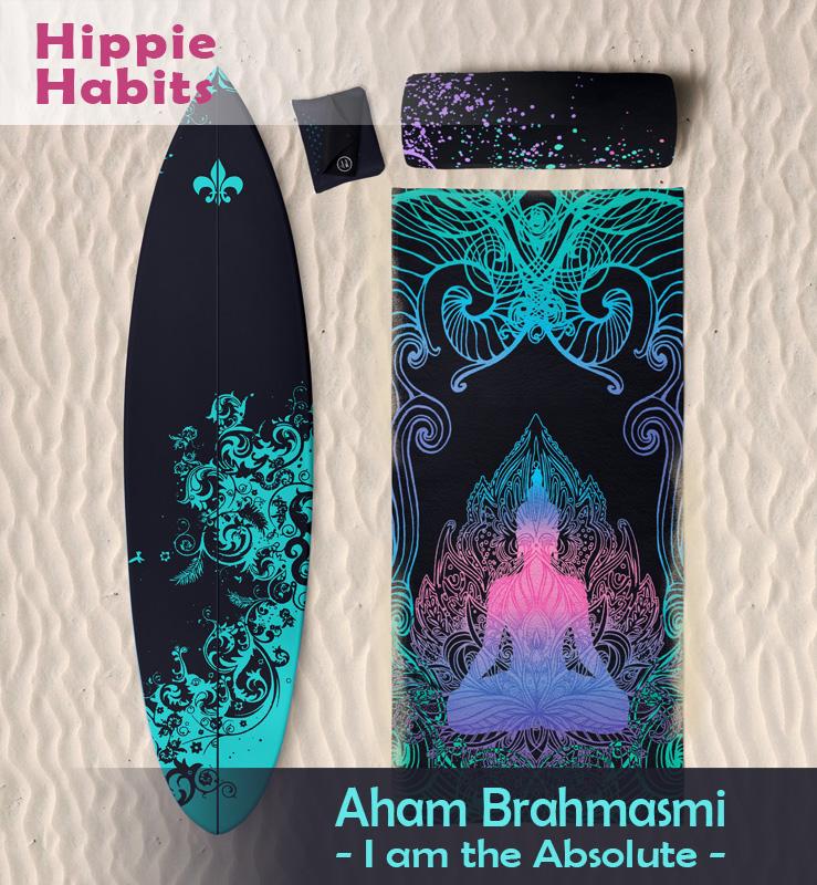 Odzież sportowa – ręczniki, chusty, legginsy, bluzy sportowe, koszulki – Hippie Habits – Aham Brahmasmi – Iam the absolute – jestem absolutem – indie yoga