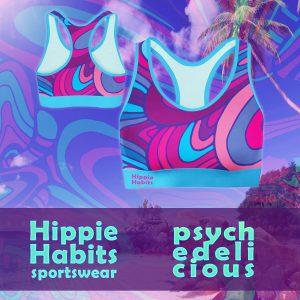 Crop-top - stanik sportowy- Hippie Habits - Psychodelicious - joga, yoga - fitness - sportswear