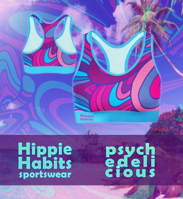 Crop-top – stanik sportowy- Hippie Habits – Psychodelicious – joga, yoga – fitness – sportswear