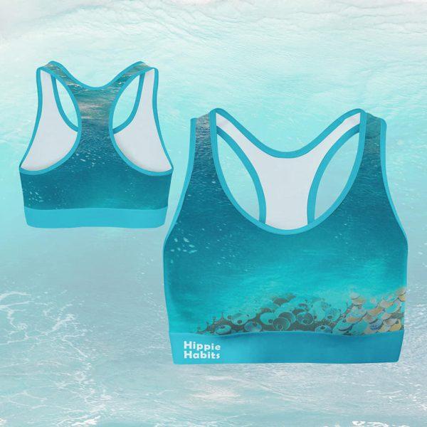 Crop-top – stanik sportowy- Hippie Habits – Mint Wings –  joga, yoga – fitness – sportswear